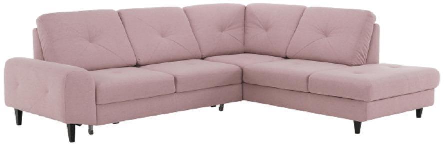 Rozkladacia sedacia súprava, látka Soro púdrová rúžová, pravá, PRAGA
