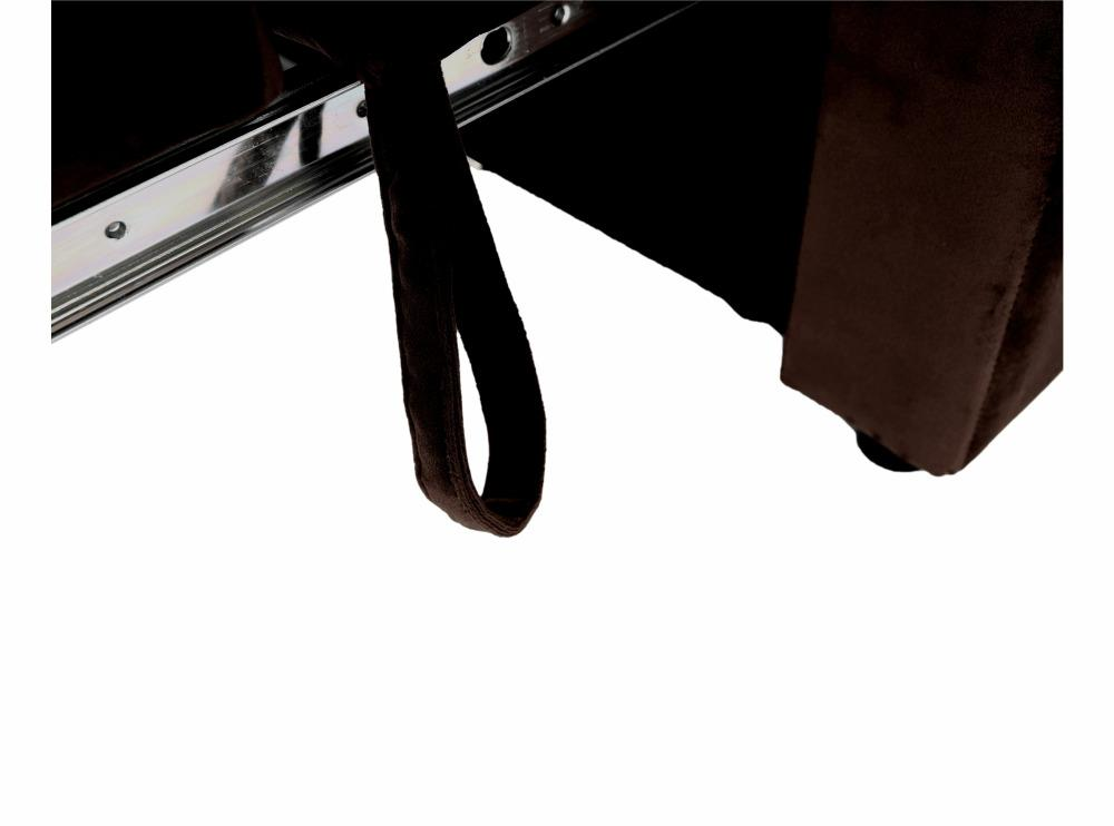 Rozkladacie kreslo, čokoládová Velvet látka, PECHRO