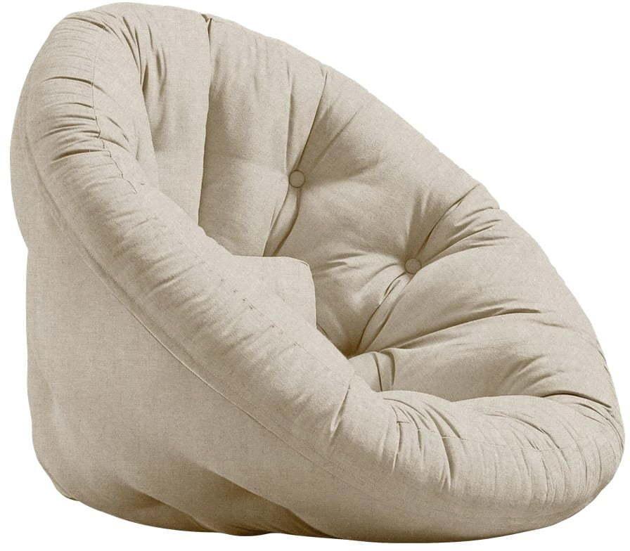 Rozkladacie kreslo s ľanovým poťahom Karup Design Nest Linen