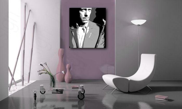 Ručne maľovaný POP Art obraz Dr. HOUSE  dh2