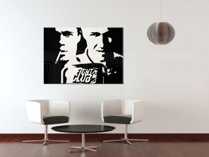 Ručne maľovaný POP Art obraz Fight Club  fight_club