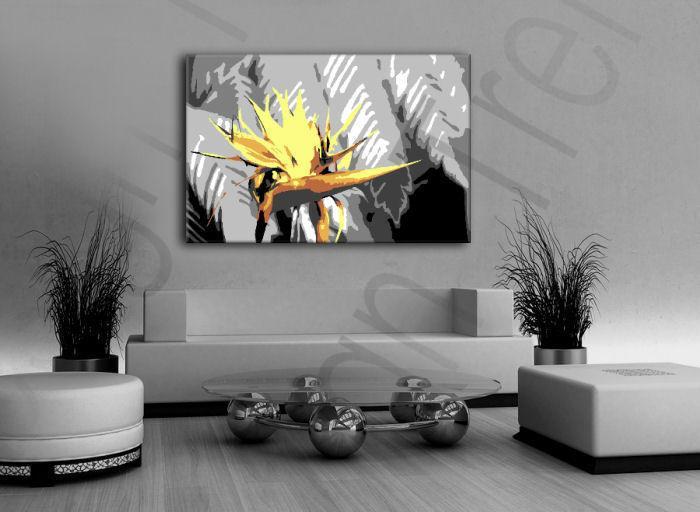 Ručne maľovaný POP Art obraz Flower  flo4