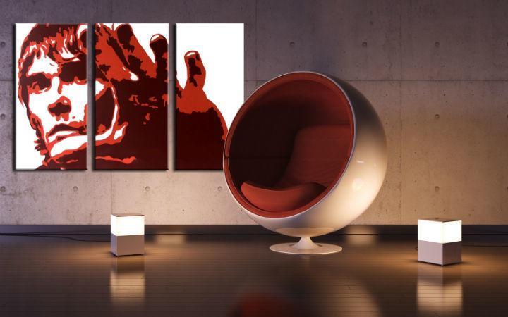 Ručne maľovaný POP Art obraz Ian Brown 3 dielny  ib3