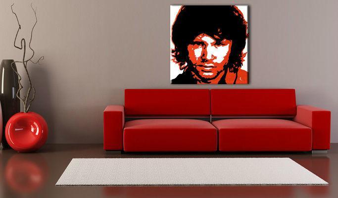 Ručne maľovaný POP Art obraz Jim Morrison  jm2