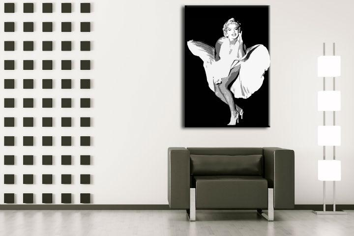 Ručne maľovaný POP Art obraz Marilyn Monroe  mon6