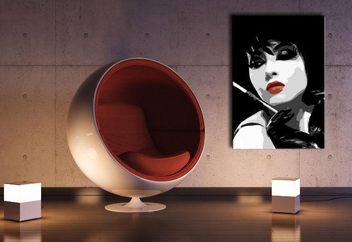 Ručne maľovaný POP Art obraz Pop woman  ppw