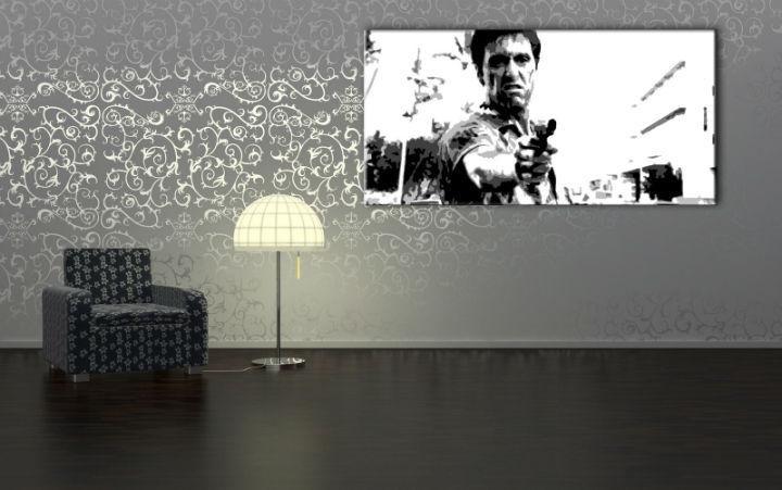 Ručne maľovaný POP Art obraz Scarface  smp