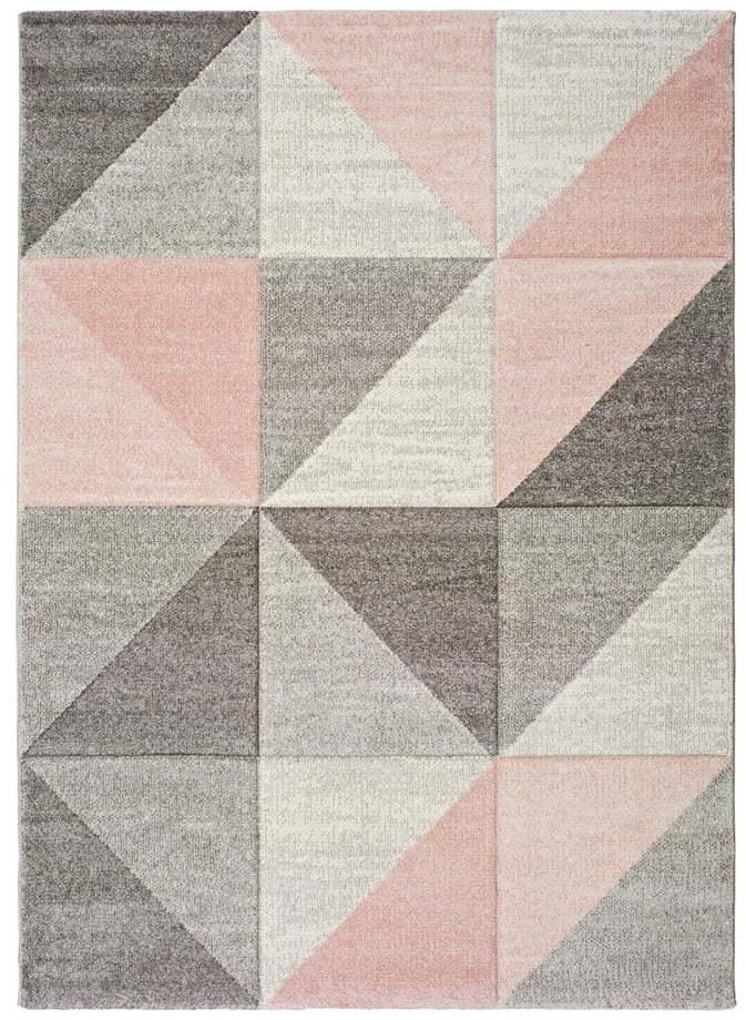 Ružovo-sivý koberec Universal Retudo Naia, 80 × 150 cm