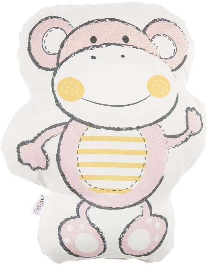 Ružový detský vankúšik s prímesou bavlny Mike & Co. NEW YORK Pillow Toy Beatto, 31 x 36 cm