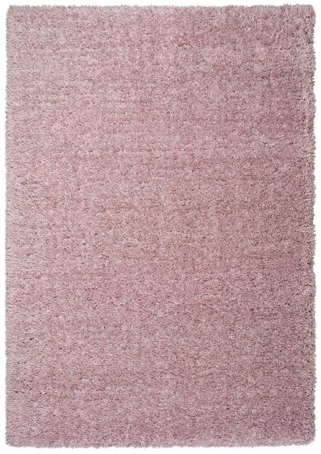 Ružový koberec Universal Floki Liso, 60 × 120 cm