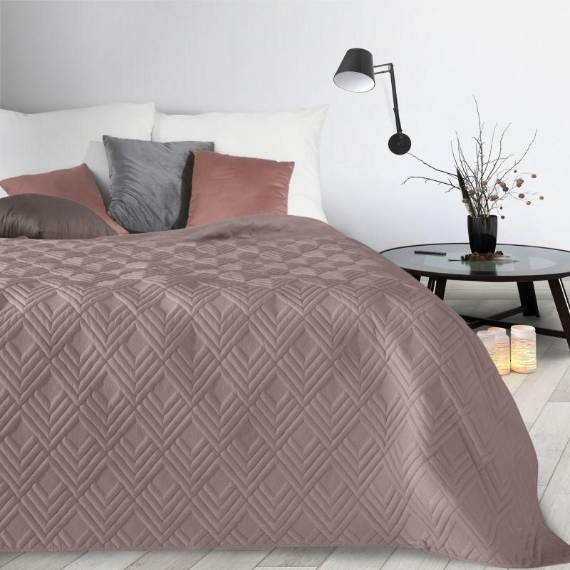 Ružový prehoz na posteľ ALARA1 170x210 cm