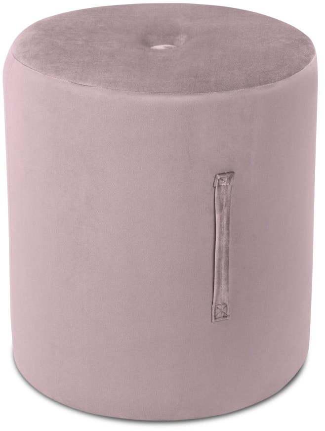 Ružový puf Mazzini Sofas Fiore, ⌀ 40 cm