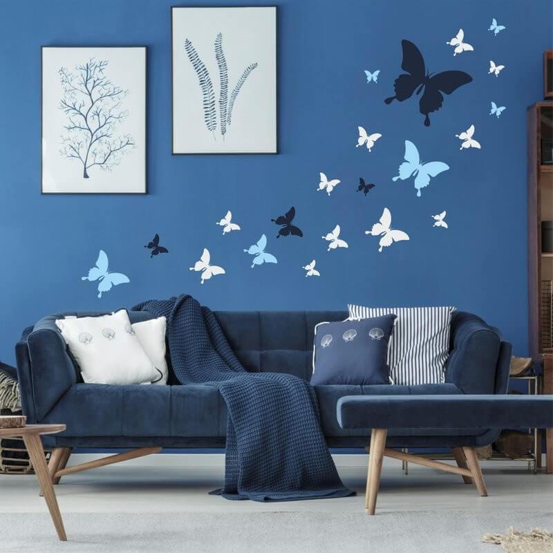 Šablóna na maľovanie - Let motýľov