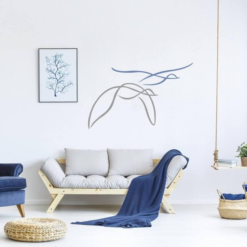 Šablóny na maľovanie - Letiace vtáky