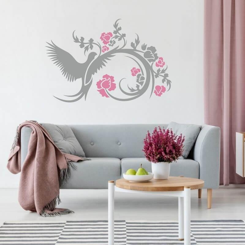 Šablóny na maľovanie - Rozkvitnuté krídlo