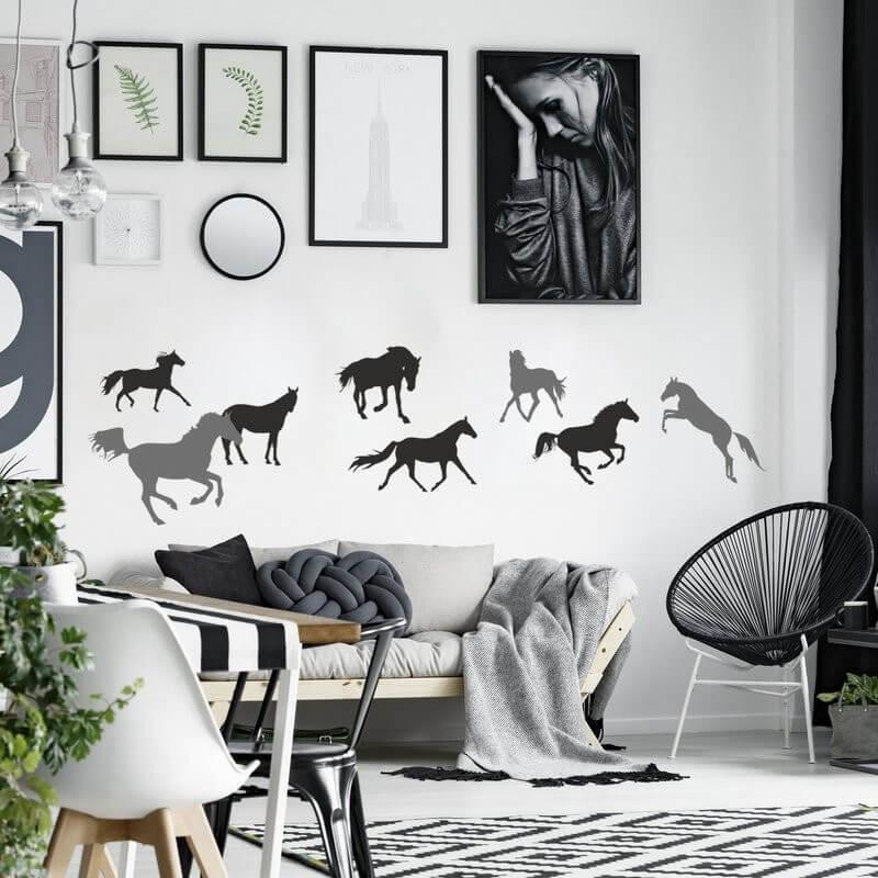 Šablóny na maľovanie - Stádo koní