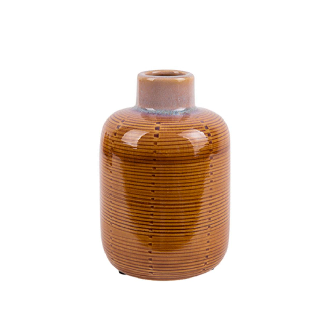 Sada 2 ks – Malá váza Bottle – žltá