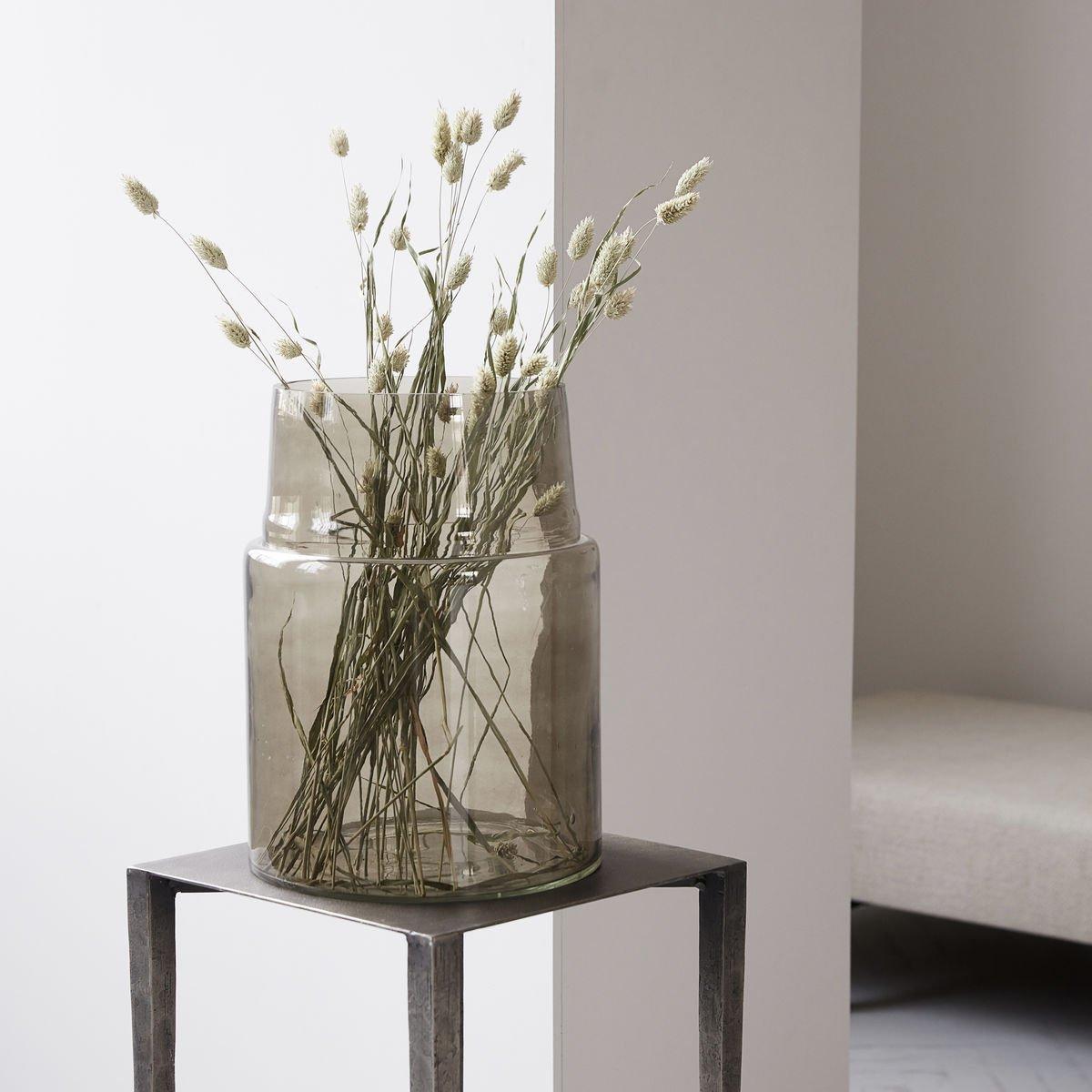Sada 2 ks – Šedá sklenená váza Airy