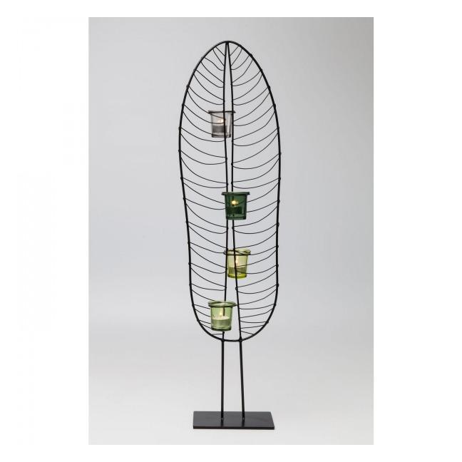 Sada 2 ks – Svietnik na čajovú sviečku Leaf Wire 86 cm