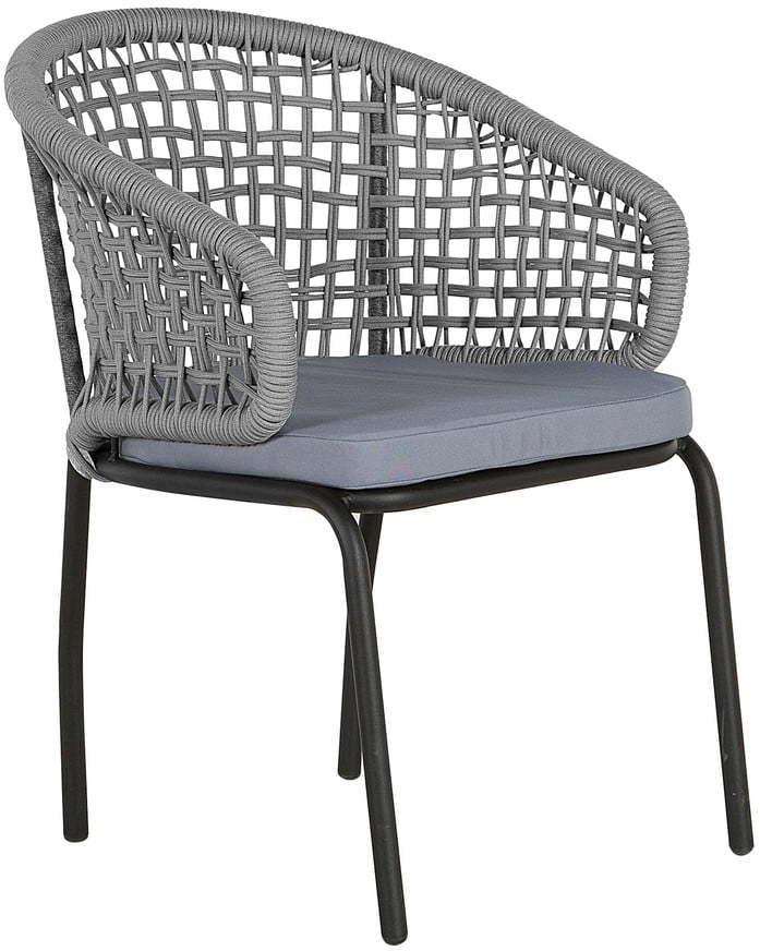 Sada 2 sivých záhradných stoličiek Monobeli Ibiza