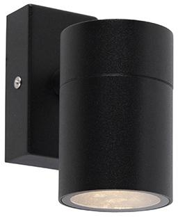 Sada 2 vonkajších nástenných svietidiel čierny nerez IP44 - Solo