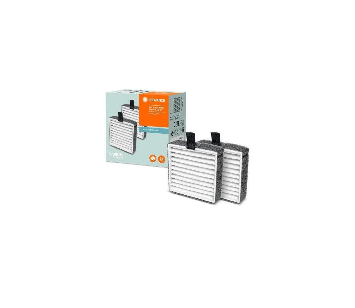 SADA 2x Náhradný HEPA filter k čističke vzduchu PURIFIER UVC