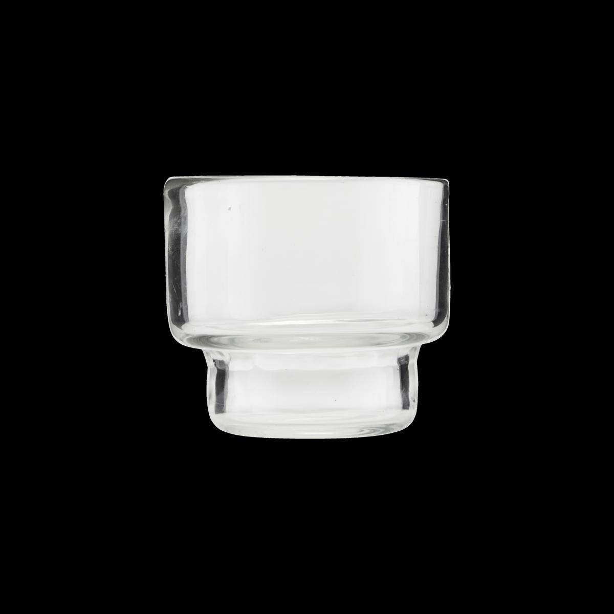 Sada 3 ks − Priehľadný stojan na čajovú sviečku Mute