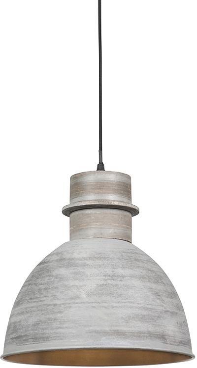 Sada 3 vidieckych závesných lámp šedej farby - Dory