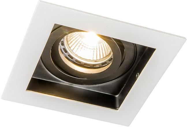 Sada 5 zapustených bodových svetiel z bielej ocele - Carree
