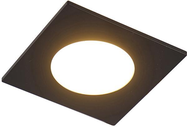 Sada 6 zapustených bodov čiernej farby vrátane LED 3 -stupňového stmievania IP65 - jednoducho