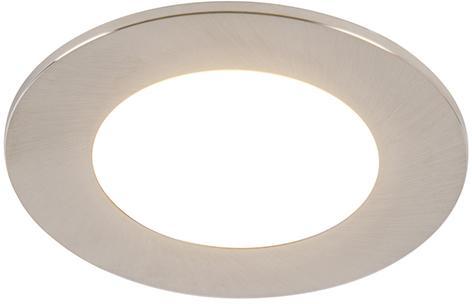 Sada 6 zapustených bodových ocelí vrátane LED 3 -stupňového stmievateľného IP65 - Blanca