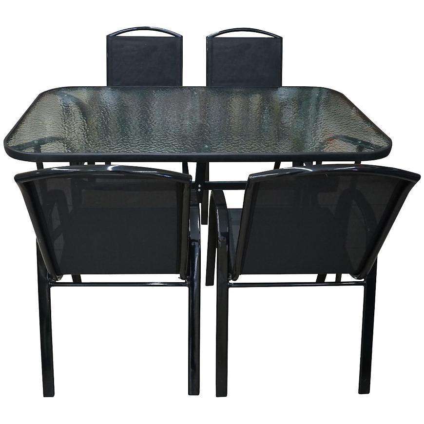 Sada sklenený stôl + 4 stoličky Himalaya