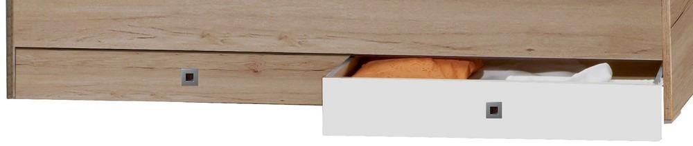 Sada úložných zásuviek pod posteľ Cariba, dub san remo/biela, na kolieskach