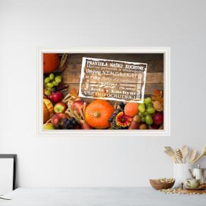 Samolepiaca tapeta na stenu - Pravidlá kuchyne, zátišie