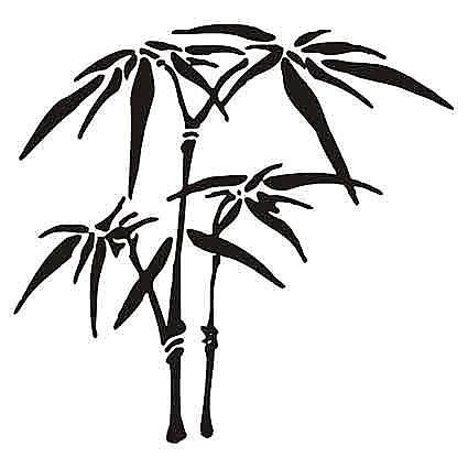 Samolepka na stenu - Bambus _tx21