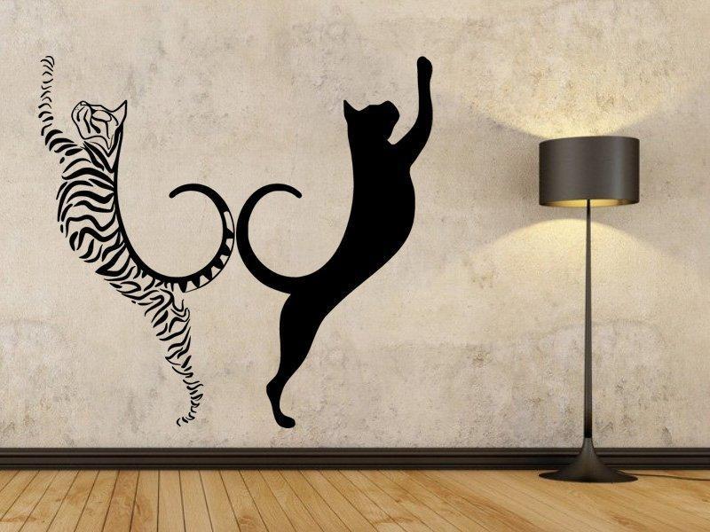 Samolepka na zeď Dvě kočky 0462