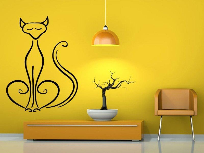 Samolepka na zeď Kočka 0436
