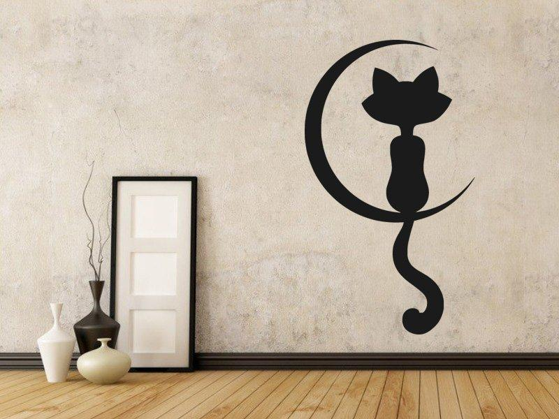 Samolepka na zeď Kočka 0438
