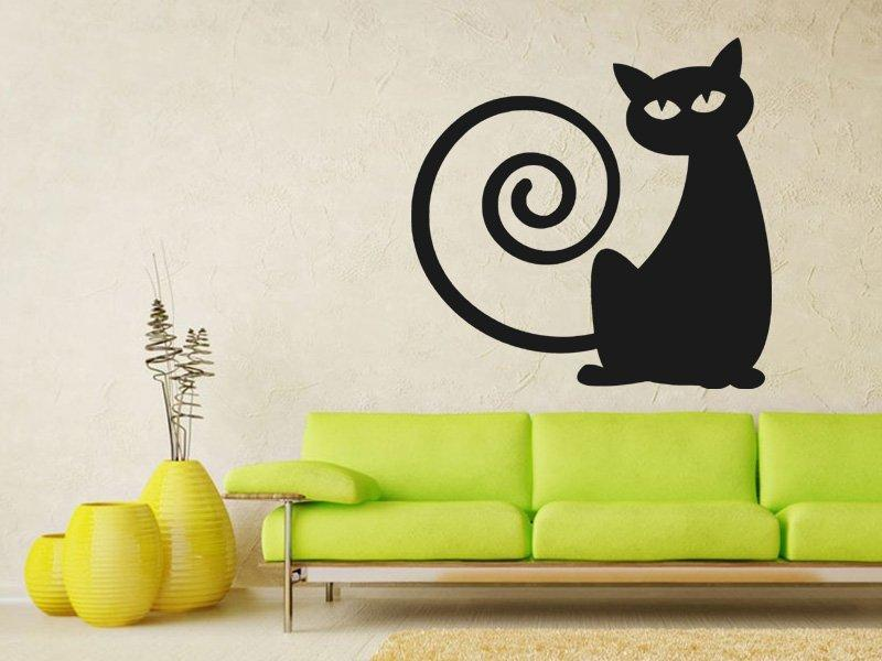 Samolepka na zeď Kočka 0443