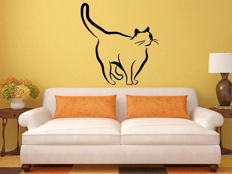 Samolepka na zeď Kočka 0445