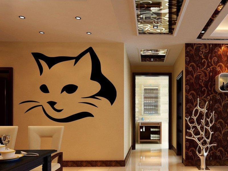 Samolepka na zeď Kočka 0469
