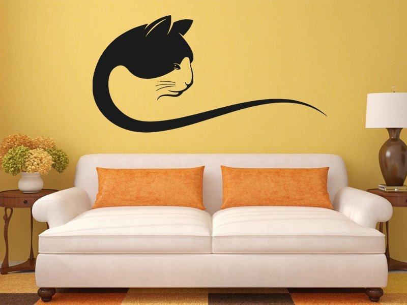 Samolepka na zeď Kočka 0498