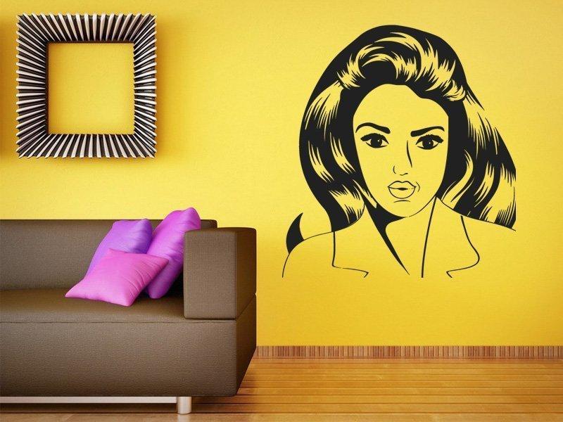 Samolepka na zeď Retro žena z komiksu 1067