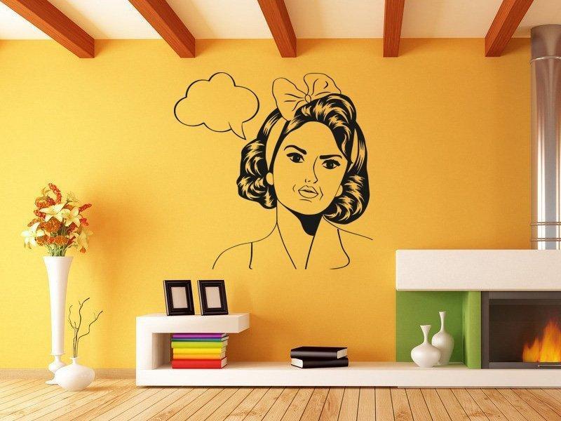 Samolepka na zeď Retro žena z komiksu 1068