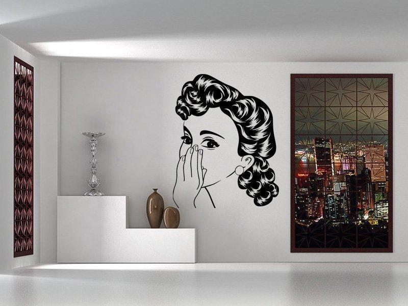 Samolepka na zeď Retro žena z komiksu 1069
