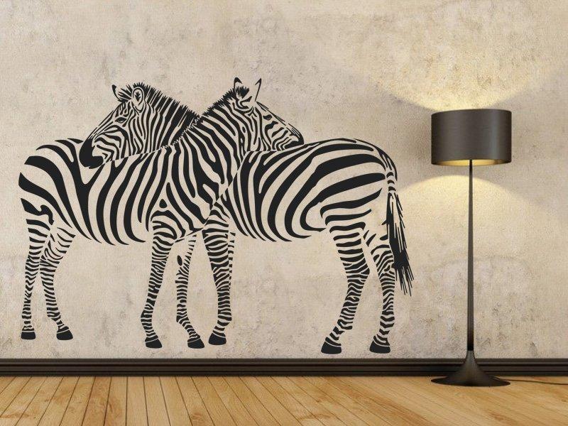 Samolepka na zeď Zebra 002
