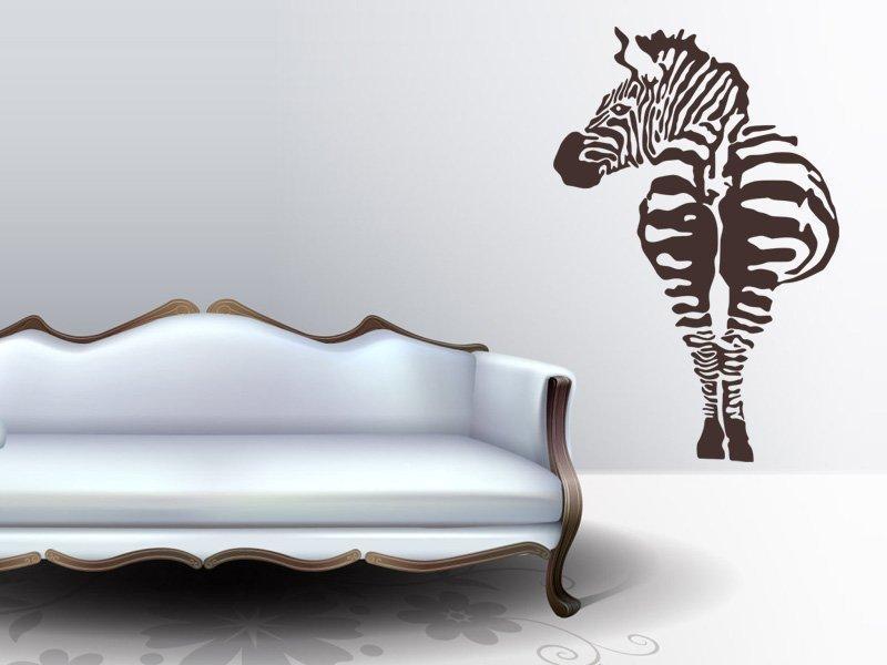 Samolepka na zeď Zebra 004