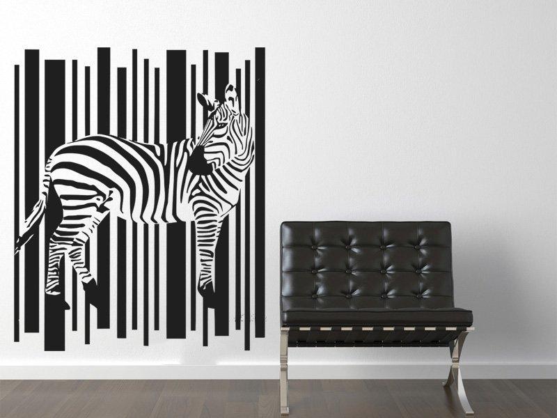 Samolepka na zeď Zebra 006