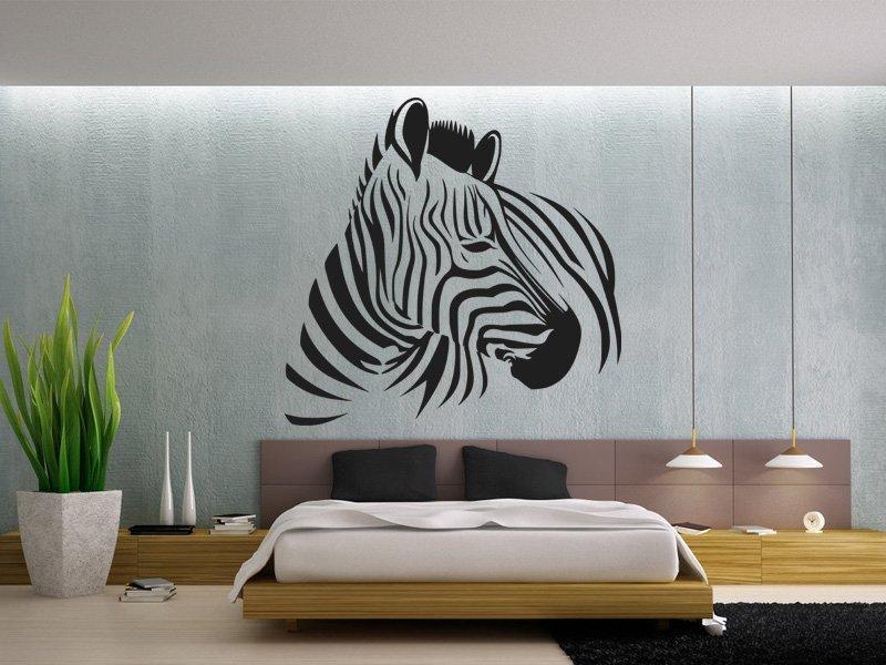 Samolepka na zeď Zebra 007