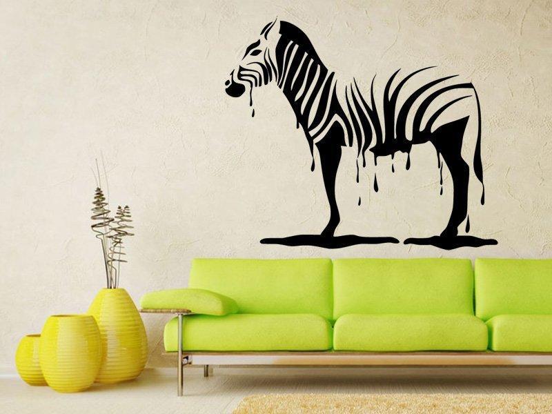 Samolepka na zeď Zebra 011